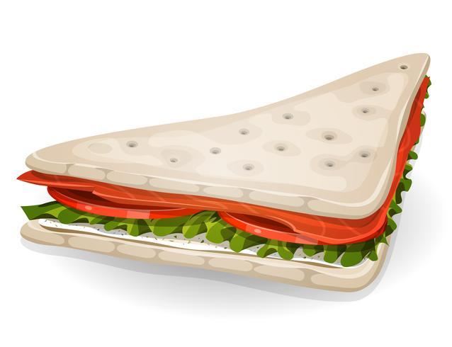 Zweeds sandwichpictogram vector