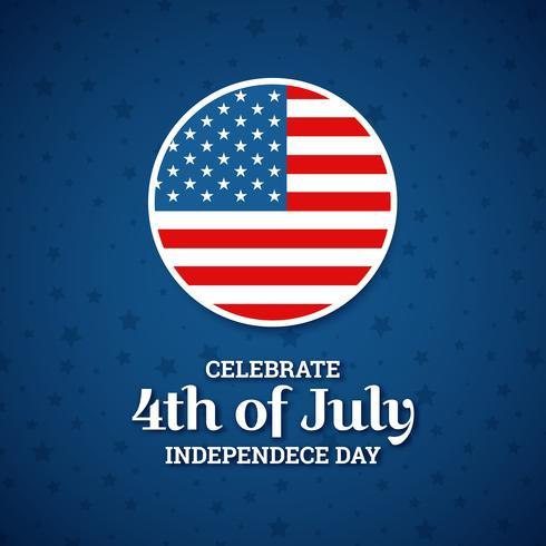 Ontwerp van de onafhankelijkheidsdag, vakantie in de Verenigde Staten van Amerika, vector