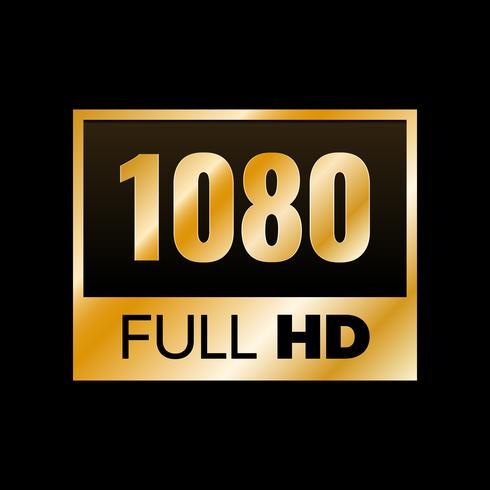 Full HD-symbool vector