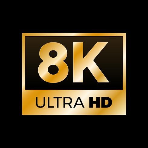 4K Ultra HD-symbool vector