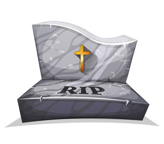 Christelijke marmeren grafsteen met RIP vector