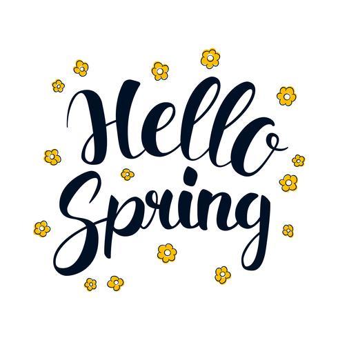 Hello-de lente, het ontwerp van de het seizoenbanner van de Kalligrafie, illustratie vector