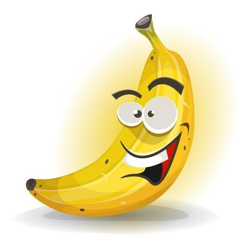 Bananenfruitkarakter vector