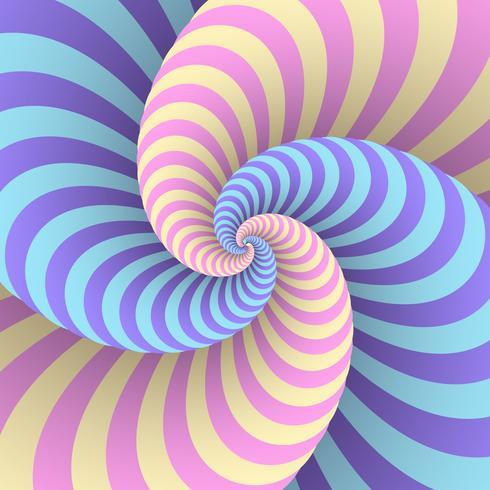 Pastel swirl circulaire beweging illusie achtergrond vector
