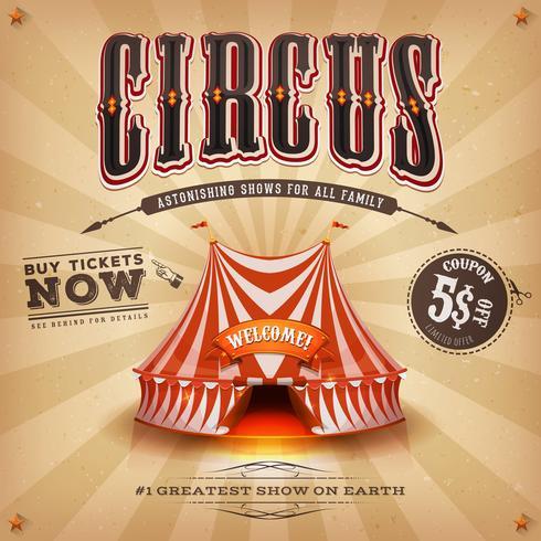 vintage circusaffiche vector