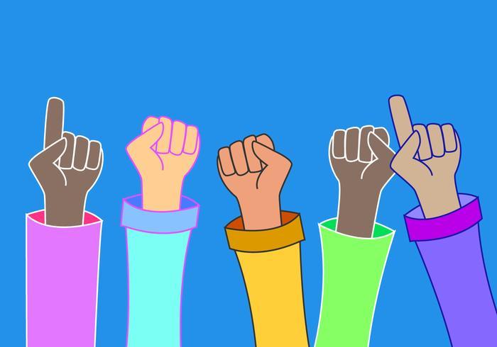 Unieke multiculturele gemeenschappen vectoren