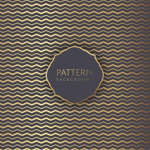 Abstracte achtergrond met gouden zigzagpatroon vector