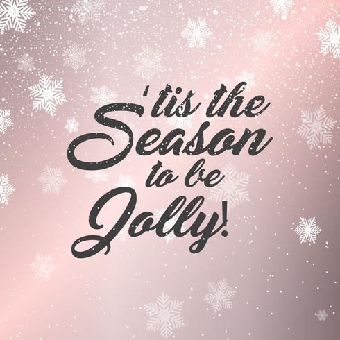 Kerst tekst achtergrond vector