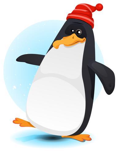 gelukkige wandelende noordpoolpinguïn vector