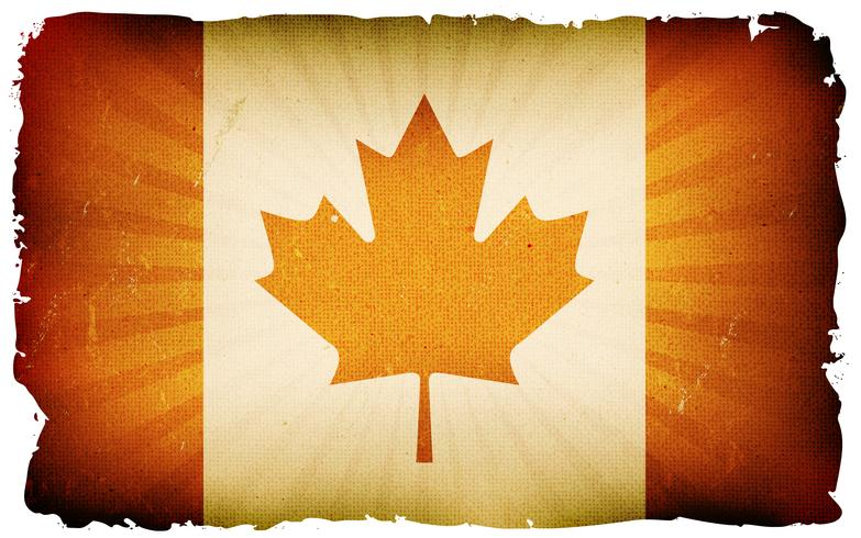 Vintage Canada vlag Poster achtergrond vector