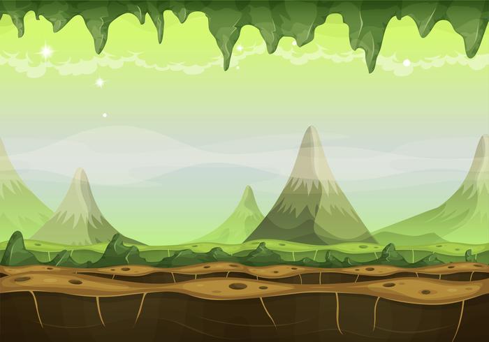 Fantasy Sci-fi Alien Landscape voor Game Ui vector