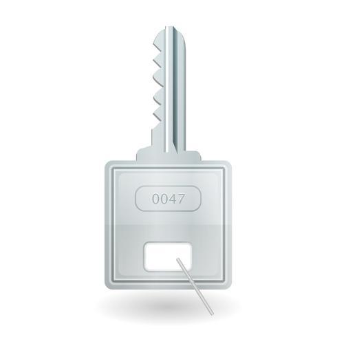Hangslot sleutelpictogram vector