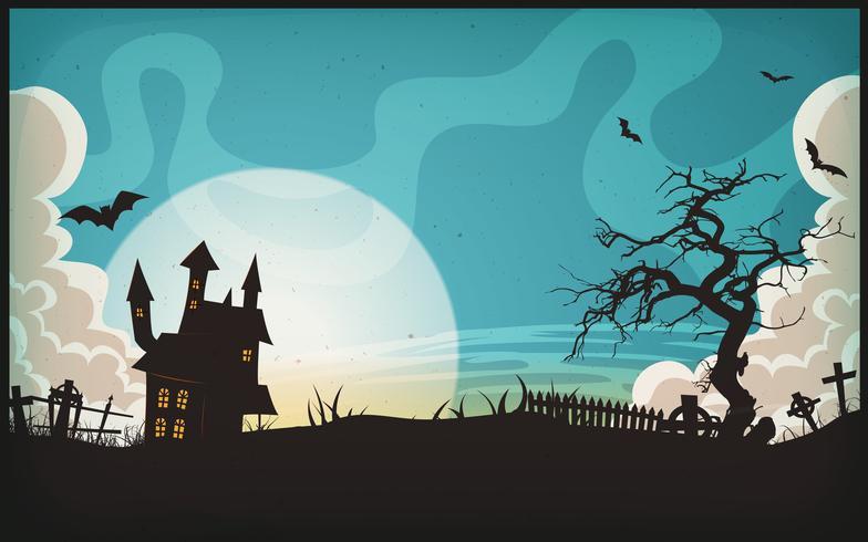 Halloween landschap achtergrond vector