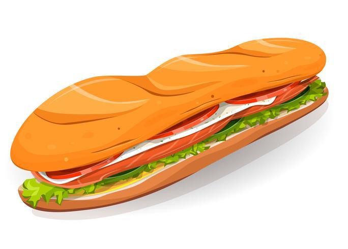Zweedse sandwich met zalm vis, verse kaas en salade vector