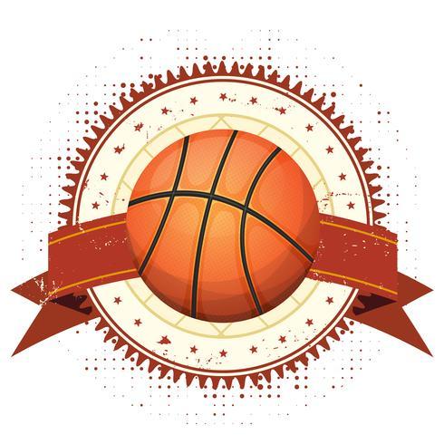 Basketbal Grunge En Vintage Banner vector