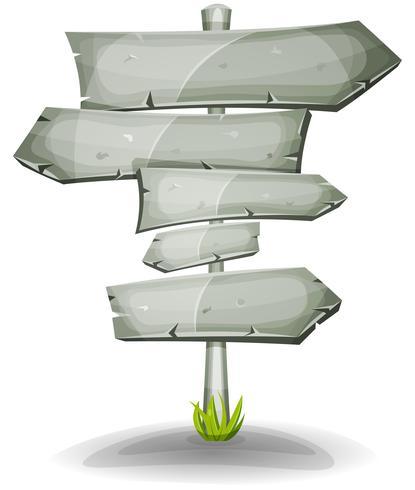 stenen verkeersborden pijlen vector