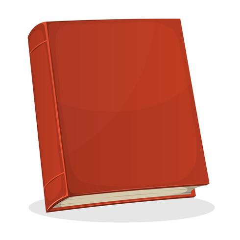 Rode boekomslag op wit wordt geïsoleerd vector