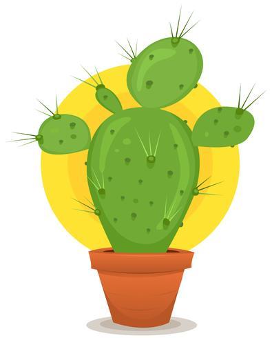 kleine cactus in de pot vector