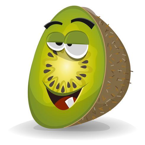 Cartoon grappige kiwi-teken vector