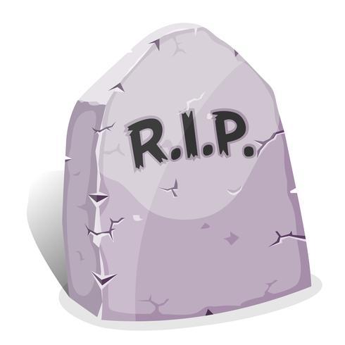 Cartoon Tombstone met RIP vector