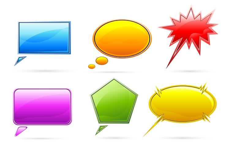Set van tekstballon vector