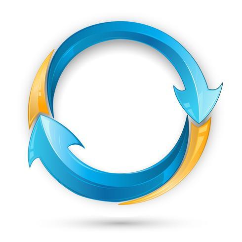 Recycle pijl vector