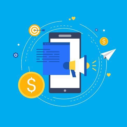 Digitale marketingcampagne vector