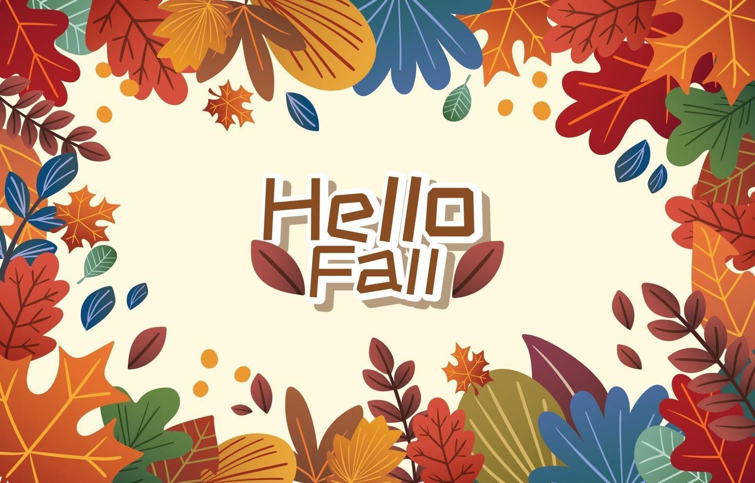 hallo herfst seizoen achtergrond vector
