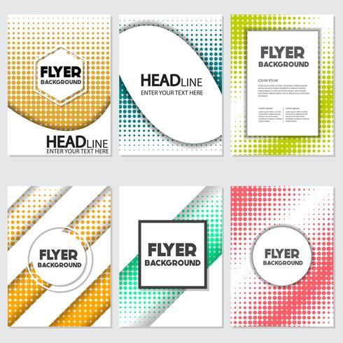 halftone Flyer stijl achtergrond ontwerpsjabloon vector