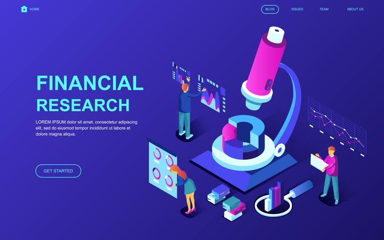 financieel onderzoek webbanner vector