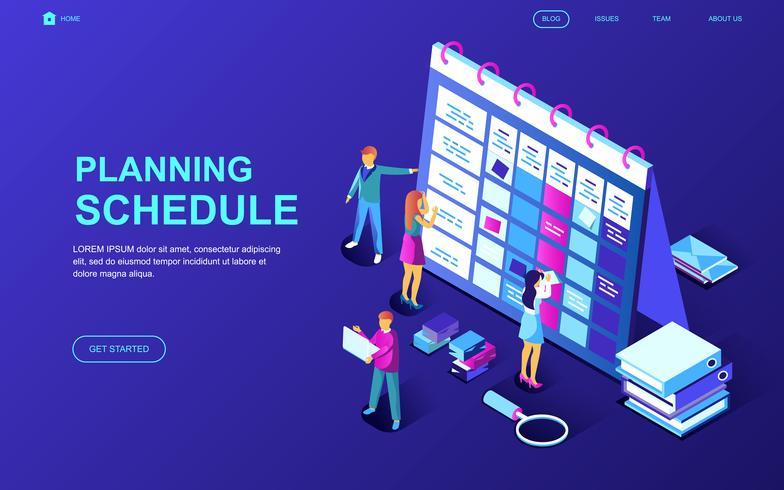 Planning Schema Webbanner vector