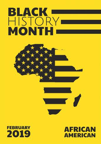 zwarte geschiedenis maand vector ontwerp