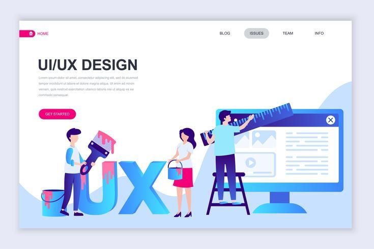 UX, UI Webbanner vector