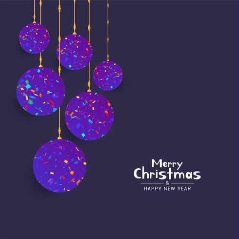 Vrolijke Kerstmis festival viering achtergrond vector