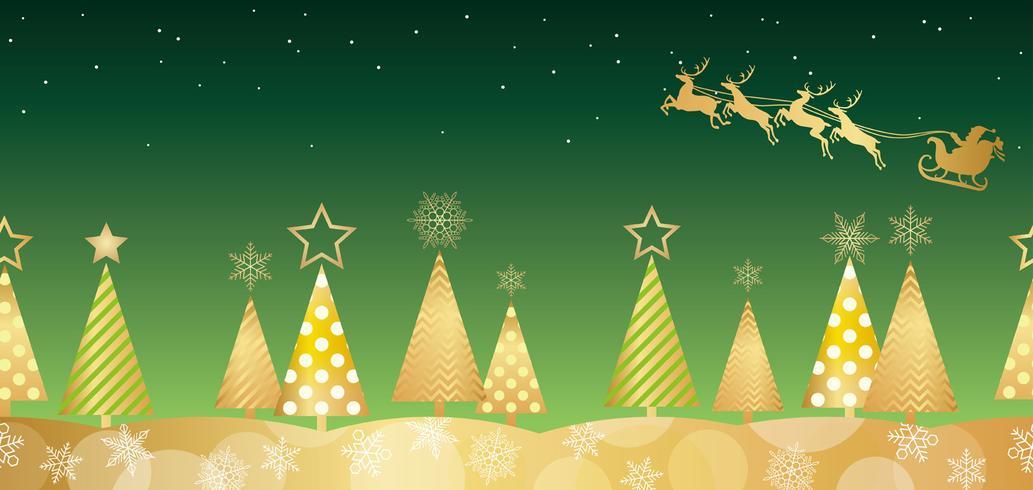 Kerst naadloze bos achtergrond. vector