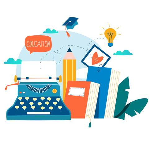 Bloggen, onderwijs, creatief schrijven vector