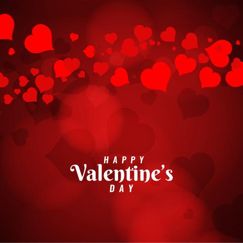 Abstracte Happy Valentine's Day begroeting achtergrond vector