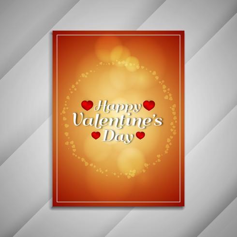 Abstracte Happy Valentine's Day presentaties van het brochureontwerp vector