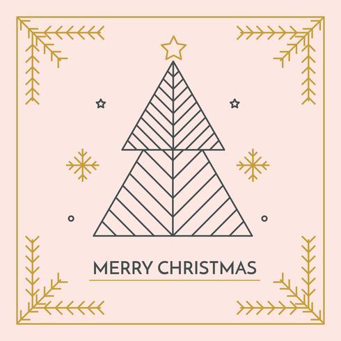 Minimalistische Merry Christmas Card Vector