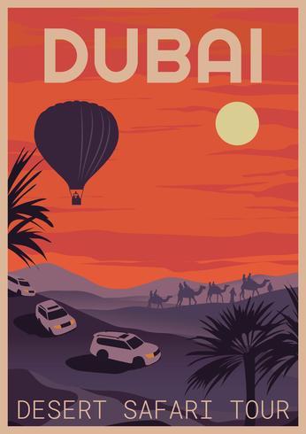 Dubai safari tour vector