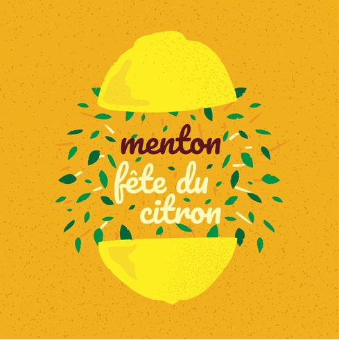 Menton Frankrijk citroenfestival Banner vector