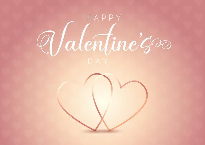 Valentijnsdag achtergrond met hart ontwerp vector