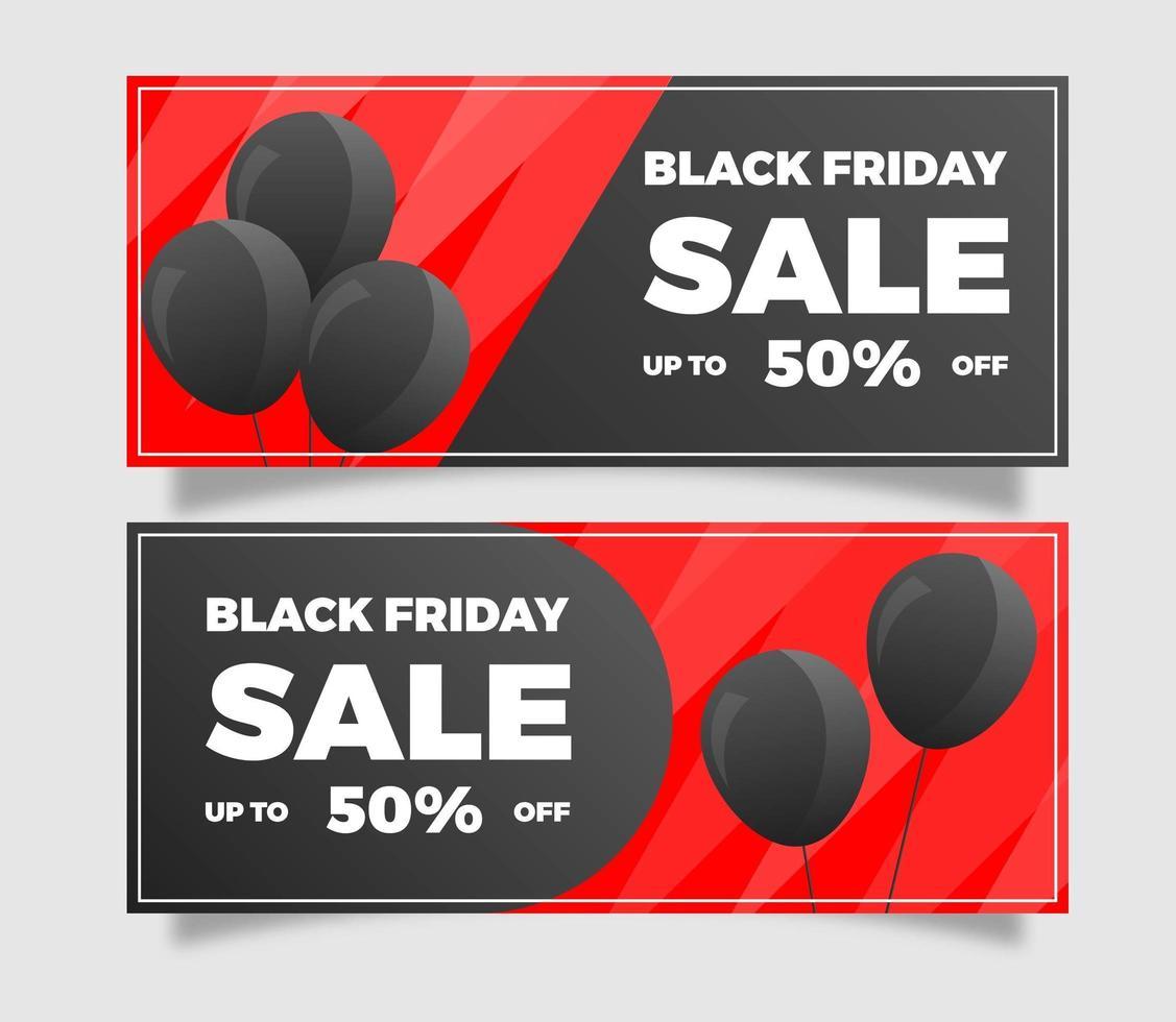 Flat Black Friday Sale Banner  vector