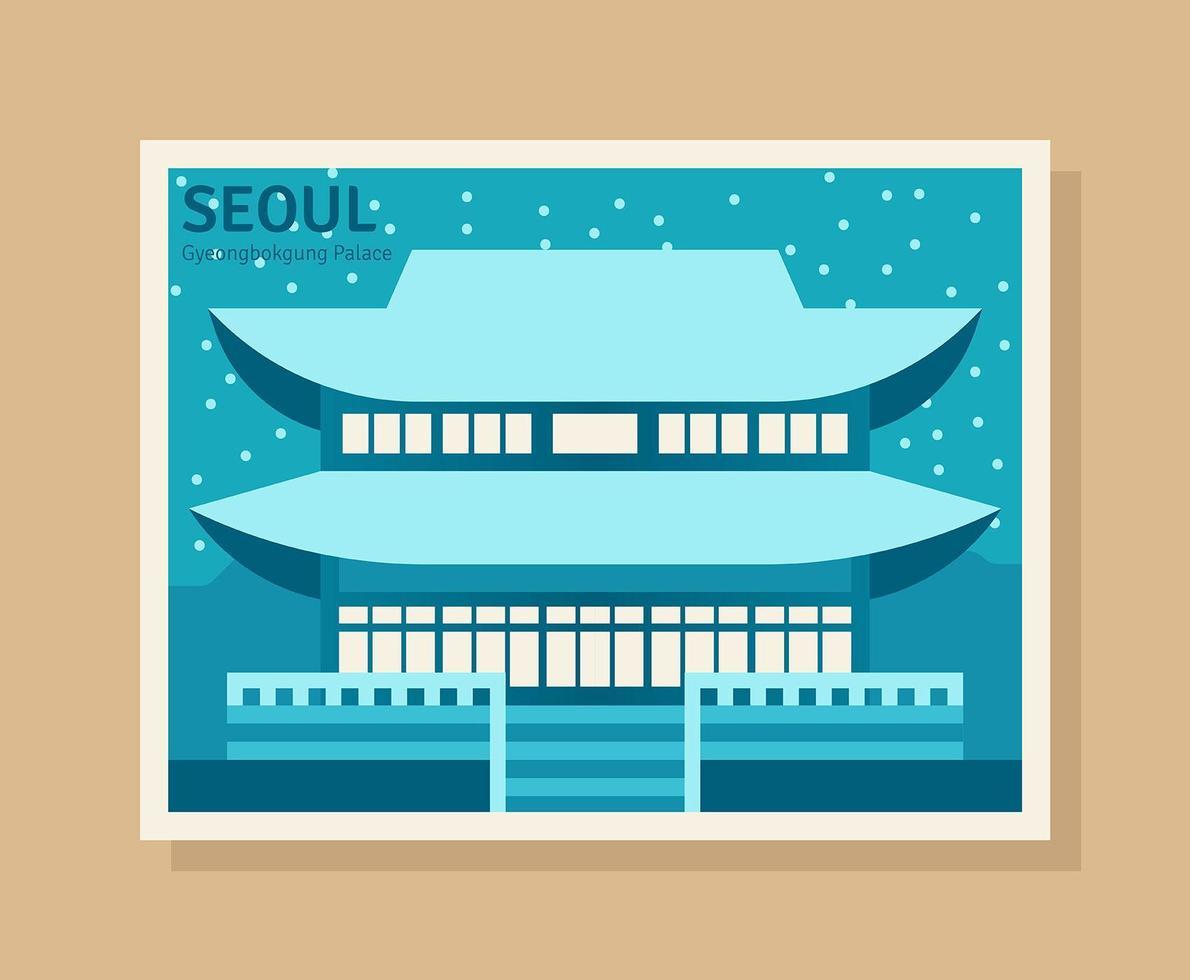 Seoul Illustration vector