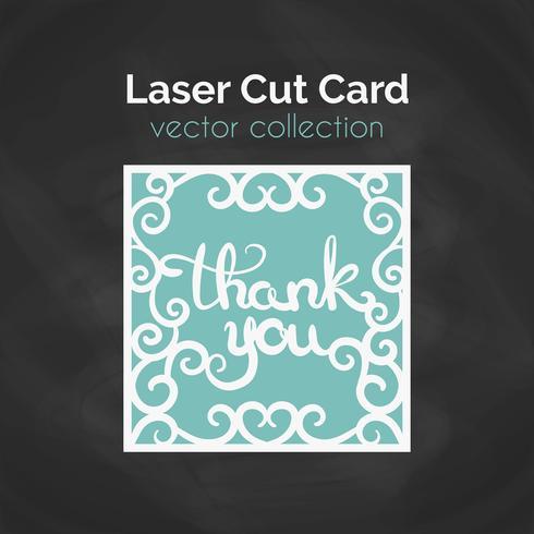 Laser gesneden kaart. Sjabloon voor snijden. Knipsel Illustratie. vector