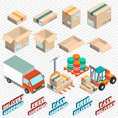 illustratie van info grafische levering pictogram concept vector