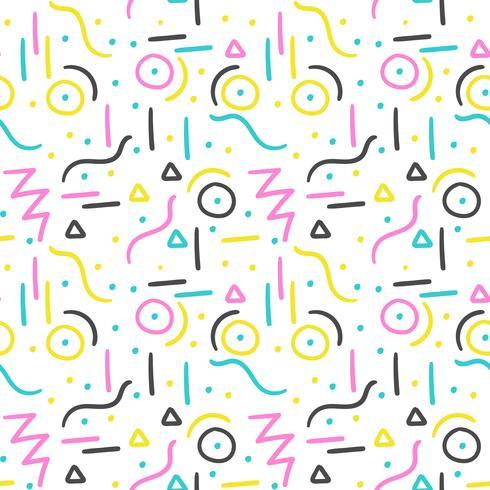 Memphis-patroonontwerp vector