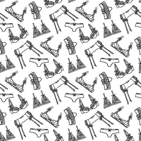 Lingerie naadloze patroon vector