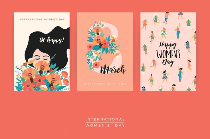 Internationale Vrouwendag. Vector sjablonen.