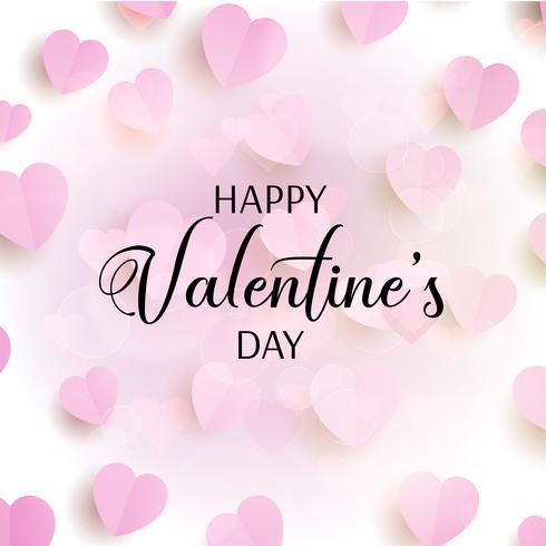 De dagachtergrond van de valentijnskaart met harten vector